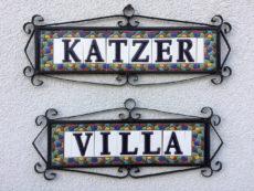 Katzer Villa tábla LOGO